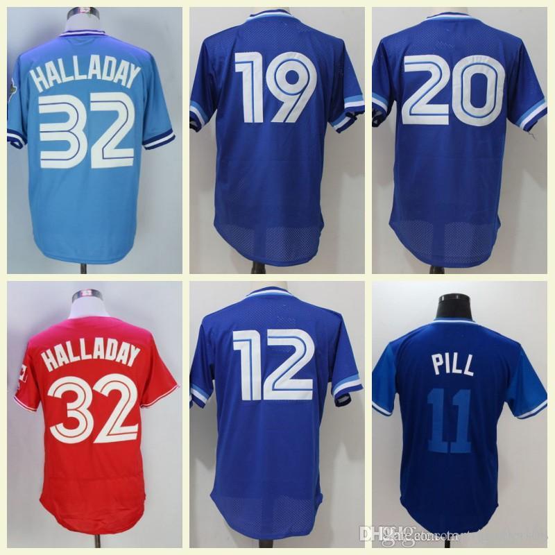 Mens 32 Halladay Flexbase Baseball Jerseys  32 Roy Halladay Jersey Toronto  White Red Blue Stitched UK 2019 From Top jerseys168 4f70afc91cc