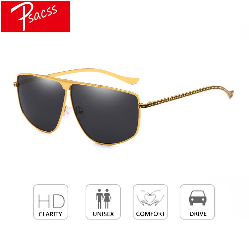 65ad3e54e11c Psacss 2018 Goggle Sunglasses For Men Women Luxury Metal Frame Brand  Designer Sun Glasses Male Vintage Sunglass Oculos De Sol Prescription  Sunglasses Online ...