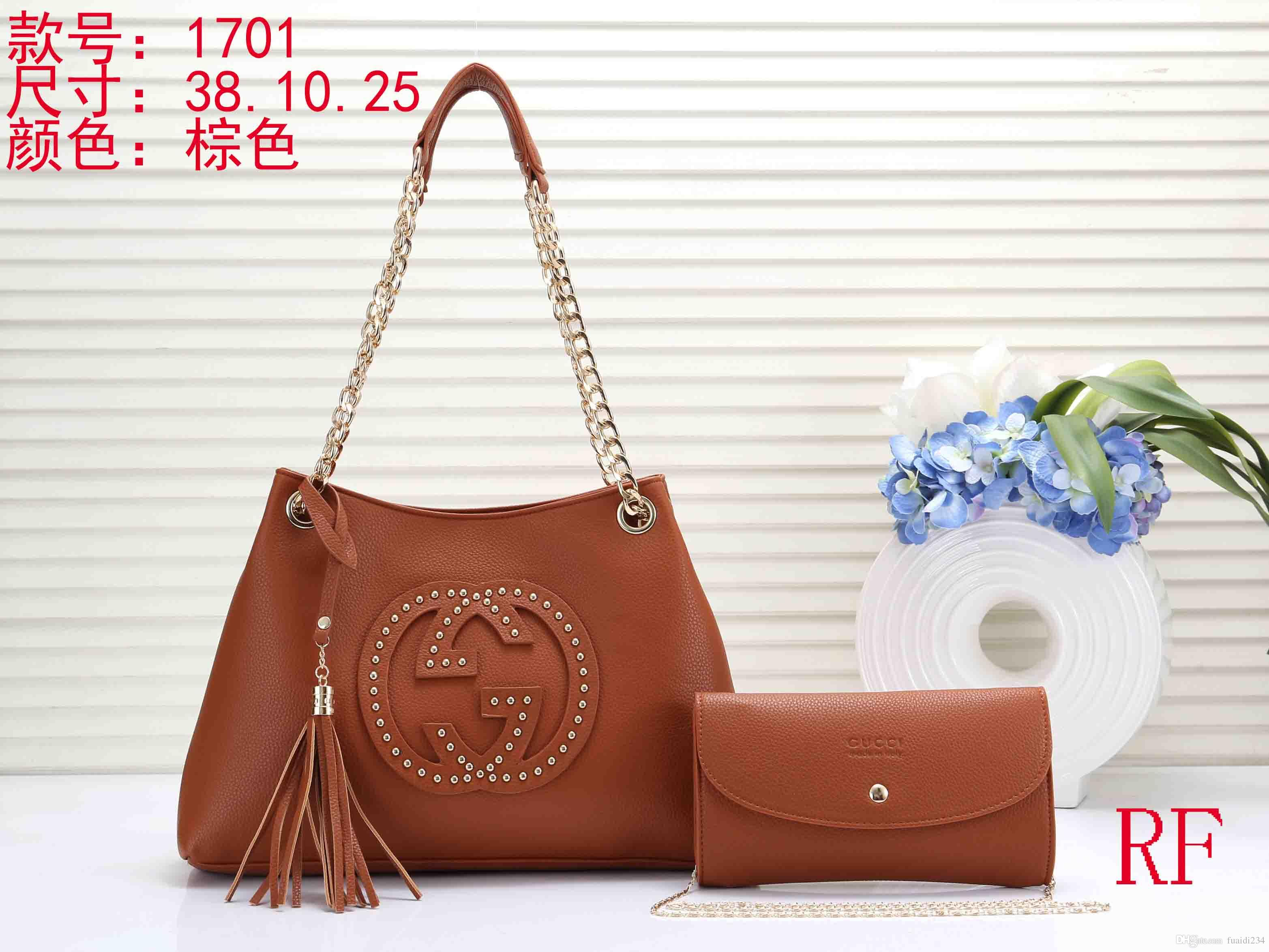 Brand New 2019 Women Handbags Pu Leather High Quality Letter Female ... 3ec887a58a251