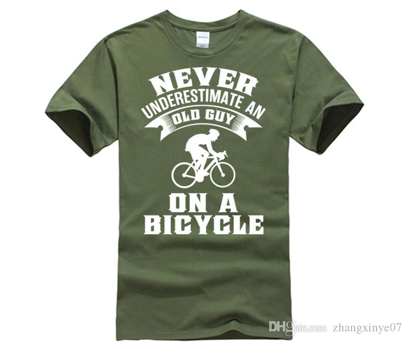 758e843f7 Fashion Women's T Shirts 6tn womens Never Underestimate An Old Guy On A Bicycle  Funny Cyclist T Shirt