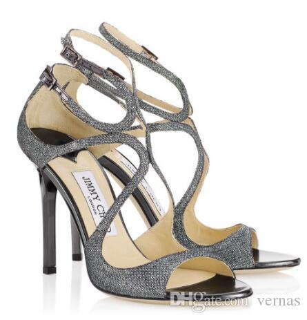 Летнее свадебное платье вечеринка Лэнг сексуальные женские насосы насосы лодыжки ремешка идеальные дамы шпилька высокие каблуки роскошный дизайн гладиаторы сандалии EU35-43