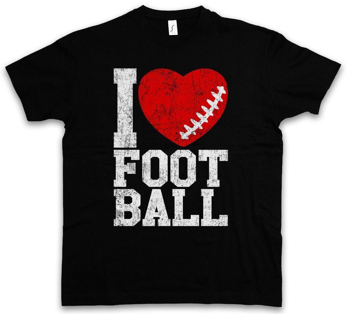 I Love Football III T Shirt Hearts Heart Love Addicted Addiction Ball Foot  Tea Shirts Fun Tshirts From Amesion91 873f1e5ec