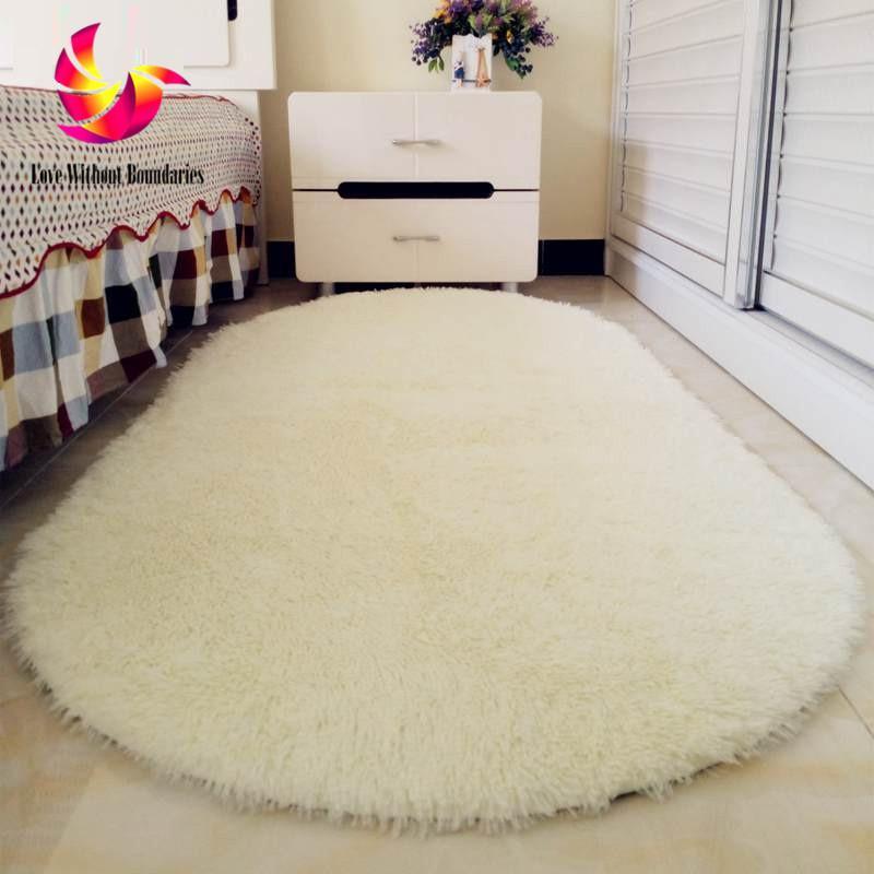Grosshandel Einfarbig Ellipse Teppich Winter Fur Wohnzimmer Romantik