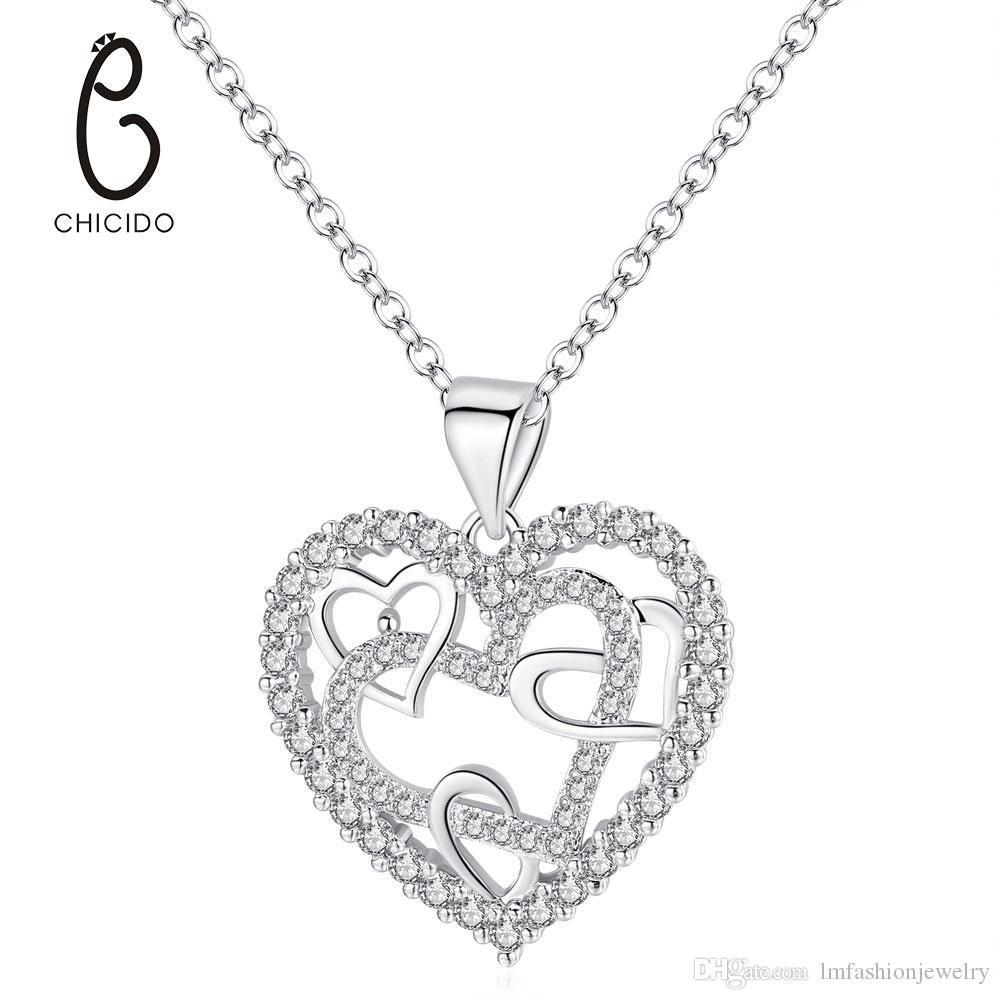 Jewelry & Watches Heart Pendant With Many Crystals Great For Engagement Or Party