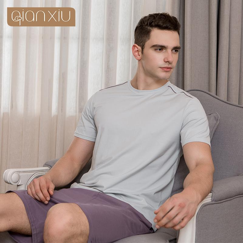 35252337ed5 2018 Summer Brand Homewear Men s Casual Pajama Sets Male Short ...