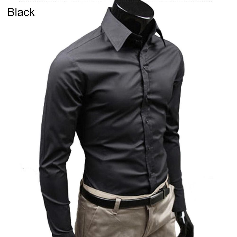 f6ac0b886d Compre Camisa De Vestir De Corte Slim Entallada De Color Sólido ...