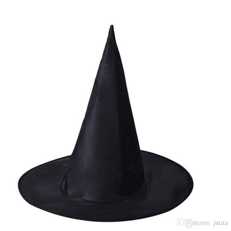 39cf739bd9d Cool Adults Women Black Witch Hat Cosplay Witch Hats Caps Halloween Costume  Accessories Party Supplies Wholesale Party Supply Wiggles Party Supplies  From ...