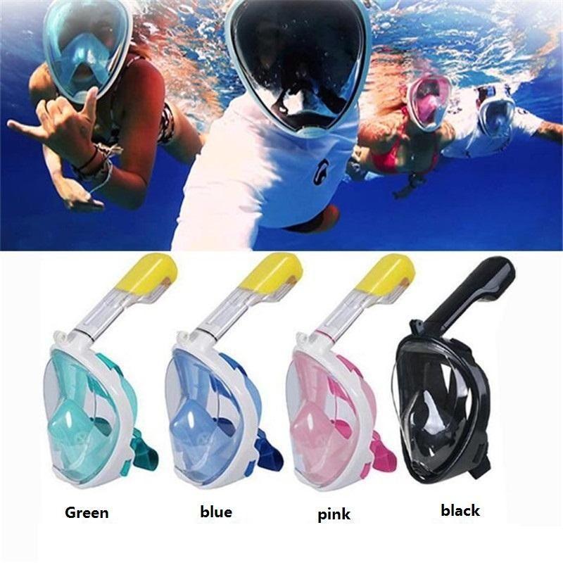 aa99fd7d9b7 2019 S M L XL Latest Underwater Diving Mask Snorkel Set Swimming Training  Scuba Mergulho Full Face Snorkeling Mask Anti Fog For Camera M773 From ...