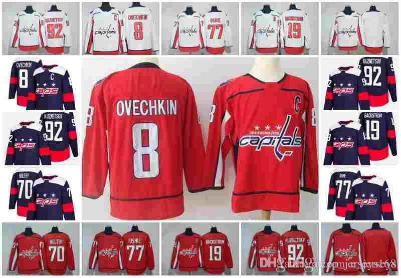 2018 Stadium Series Washington Capitals 8 Alex Ovechkin 77 TJ Oshie ... 23663075803db