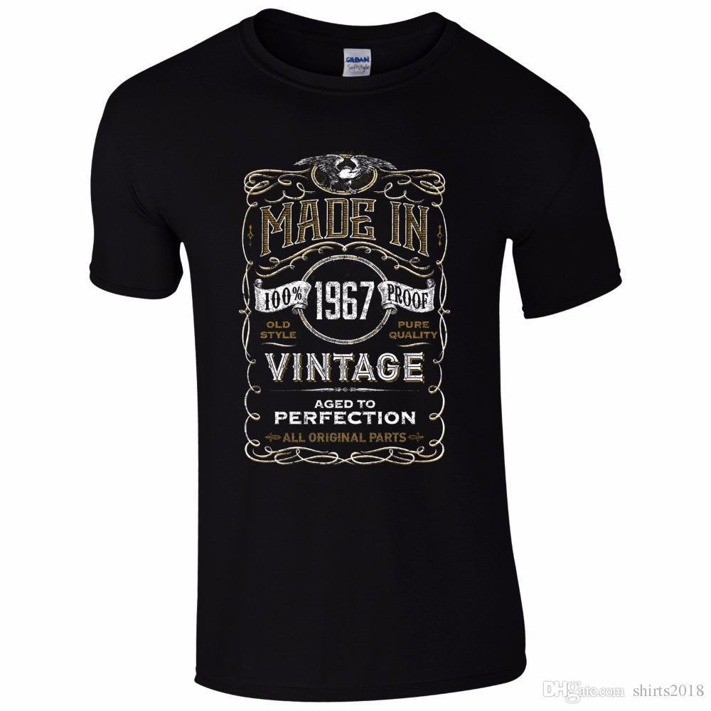 38f584074 Made In 1967 T Shirt Born 51St Year Birthday Age Present Vintage Funny Mens  Gift Men Summer T Shirt T Shirt Buy Online Crazy Tee Shirts From Yuxin010,  ...