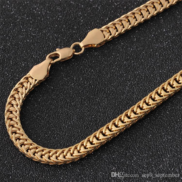 Хип-хоп ювелирные изделия 6 мм золотая цепь ожерелье новое прибытие хип-хоп аксессуары мода Ожерелье для мужчин