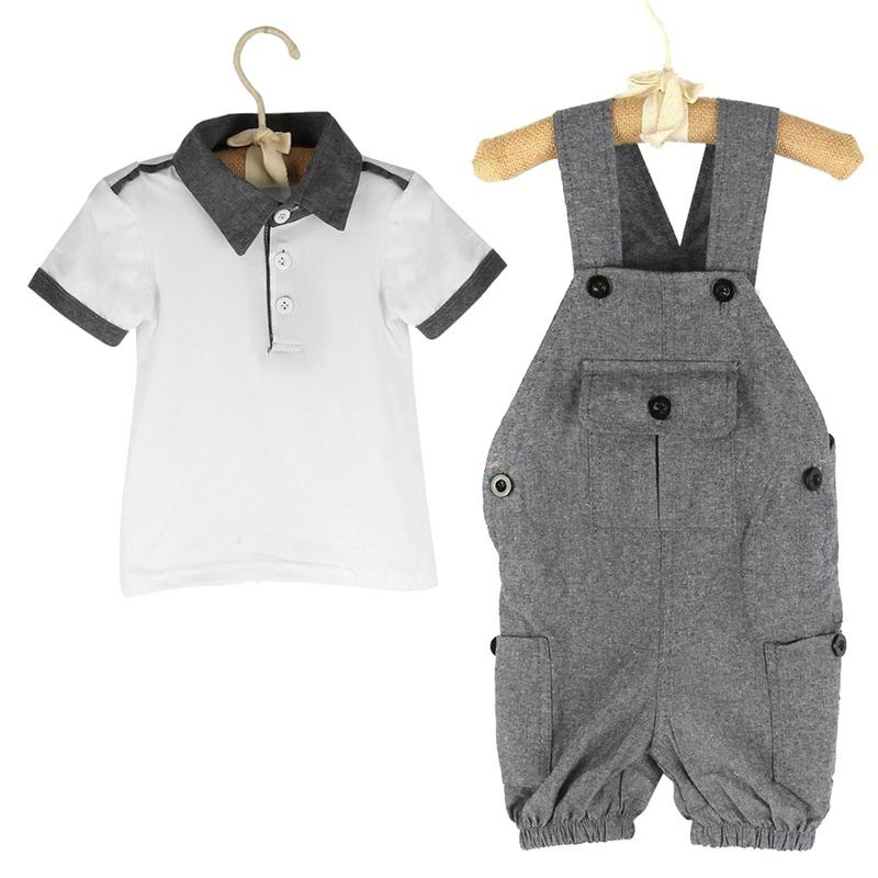 afff5fac664 2019 Summer Style Baby Boy Clothing Set Newborn Infant Clothing Short  Sleeve T Shirt + Suspenders Gentleman Suit From Buycenter