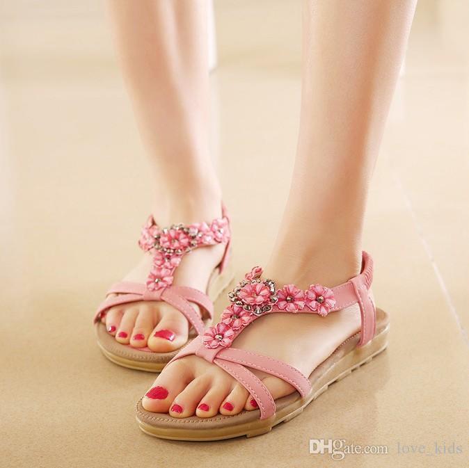 Sandálias Mulheres Sandálias Gladiador verão Mulheres Sapatos Boemia Sapatos Baixos Sandalias Mujer Senhoras Sapatos Novos Flip Flops