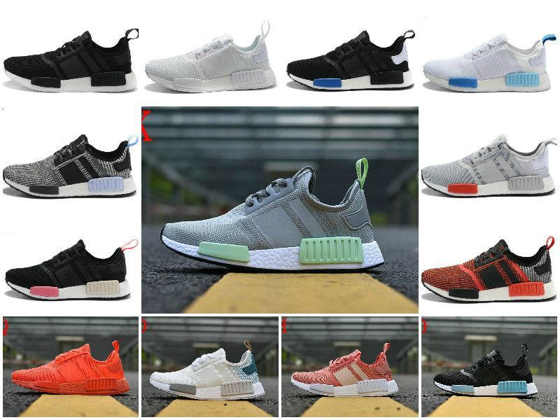 purchase cheap 762eb f5bdc Wholesale Discount Cheap NMD Runner Primeknit Sales Red Blue White NMD  Runner Sports Shoes Men Woman NMD Boost Casual ShOes with Box