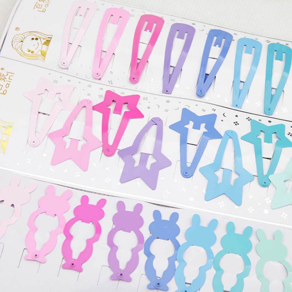 10Pcs Cute Candy Color Kid Girl Hairpin BB Snap Hair Clips Hair Accessories Gift