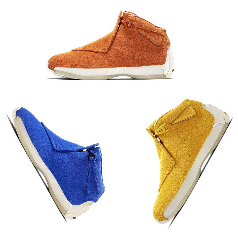 2079edbb3a3d Designer Men 18 18s Toro Basketball Shoes Red Suede Yellow Orange ...