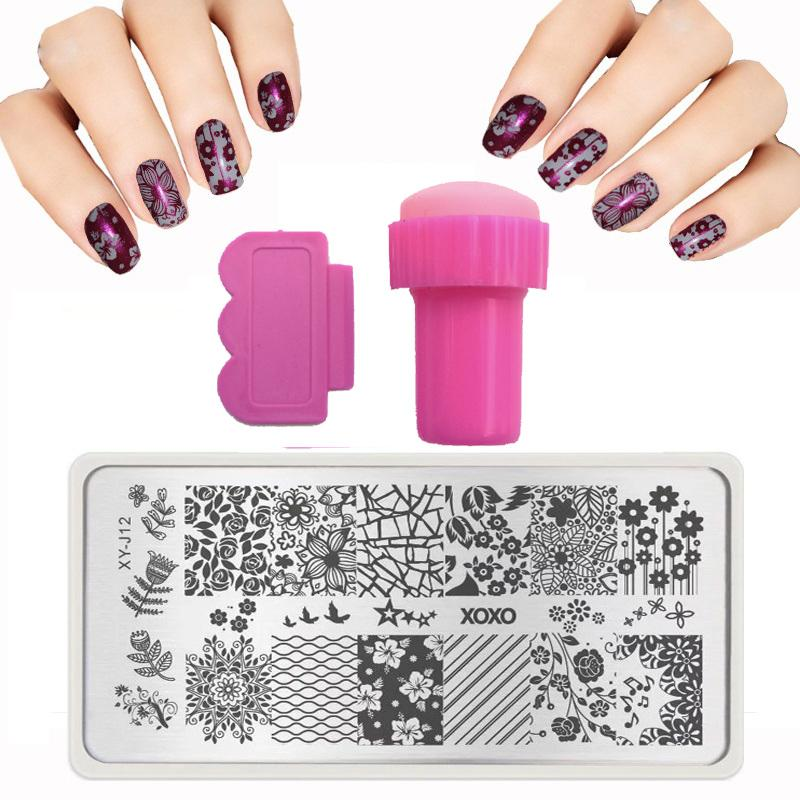 32 Style Nail Design 6*12cm Xyj Serie Nail Stamping Plates Set ...