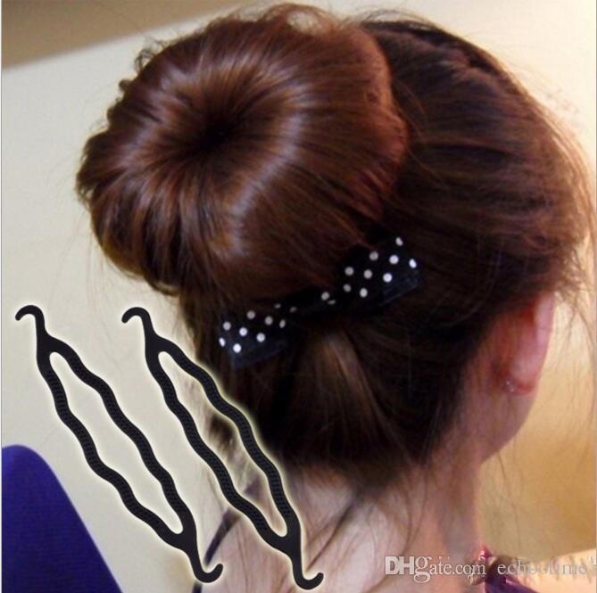 Capelli magici Coda di cavallo Creatore di capelli in plastica Parrucchiere Shaper Supporto treccia Clip Strumento di torsione Clip di stile di torsione dei capelli 5000 pz