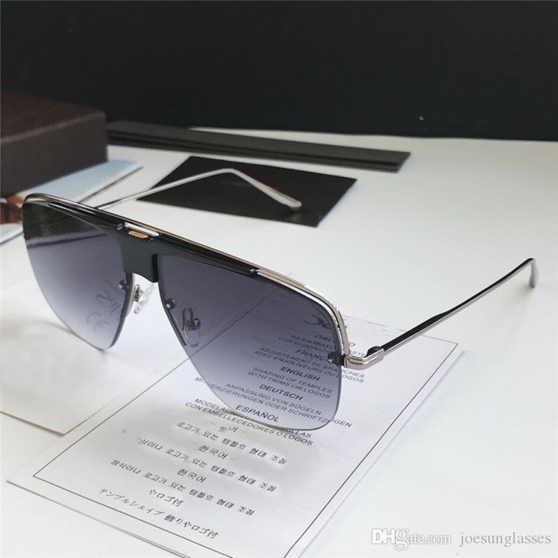 41601efe6 Compre Nova Moda Designer De Moda Óculos De Sol 0724 Quadrado Oco Meio  Quadro Popular Estilo Simples Homens De Qualidade Óculos Ao Ar Livre Com  Caixa ...
