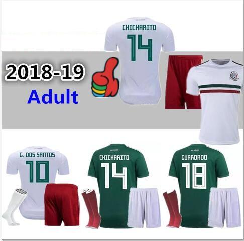 Equipo De Jersey De Fútbol De Calidad Superior 19 19 Mundial De México 18  19 G.Dos Santos CHICHARITO O.PERALTA H.LOZANO Camiseta De Fútbol Uniforme  Por ... e99b67d6ef2f1