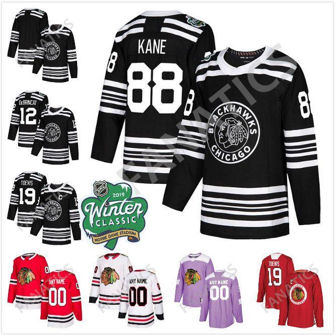 308bb40ca 2019 Winter Classsic Chicago Blackhawks 88 Patrick Kane Jonathan ...