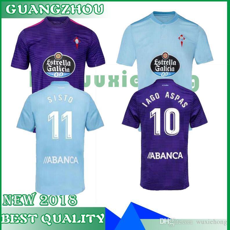 2019 2018 2019 Celta Vigo Soccer Jersey Home Away Iago Aspas Maximiliano  Gomez Sisto Jonny Camiseta De Futbol Jerseys Uniforms Football Shirts From  ... 96cf497e921e7