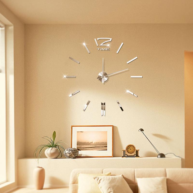 Hot Sale 3d Real Big Wall Clock Home Decor Diy Clocks Living Room ...