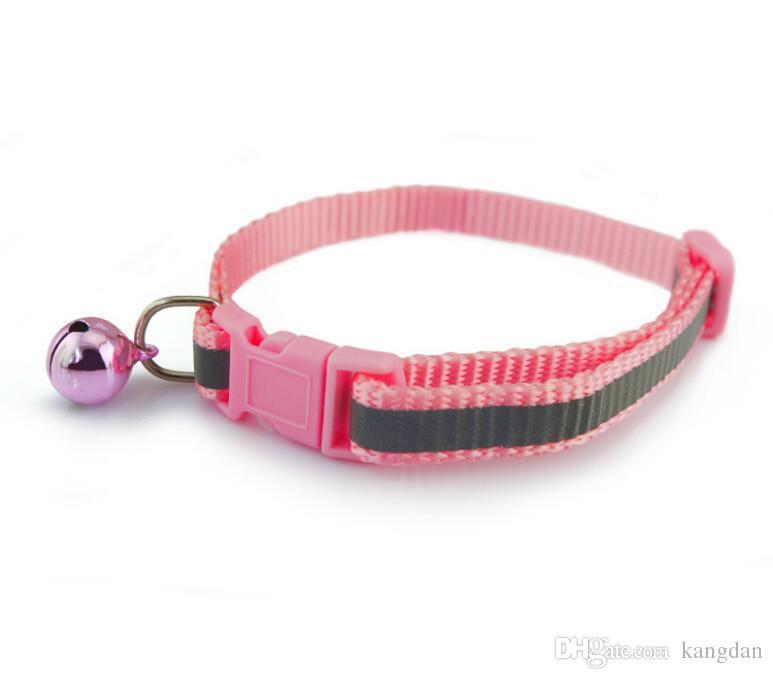 acessórios do cão reflexivas ajustado trelas colarinho coleiras fornecedor de segurança noite flash pet cachorrinho segurança gato de estimação com sino