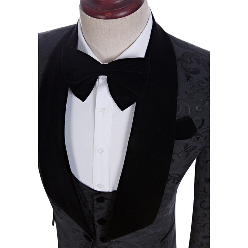 جديد وصول رفقاء العريس شال التلبيب العريس البدلات الرسمية أحمر / أبيض / أسود الرجال الدعاوى الزفاف أفضل رجل السترة سترة + سروال + التعادل + سترة c55