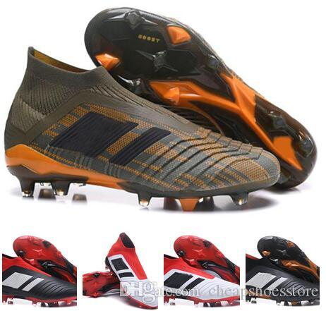 2018 soccer cleats FG chaussures de football boots mens high top soccer shoes Predator 18 cheap new hot free shipping limited edition jLea8K