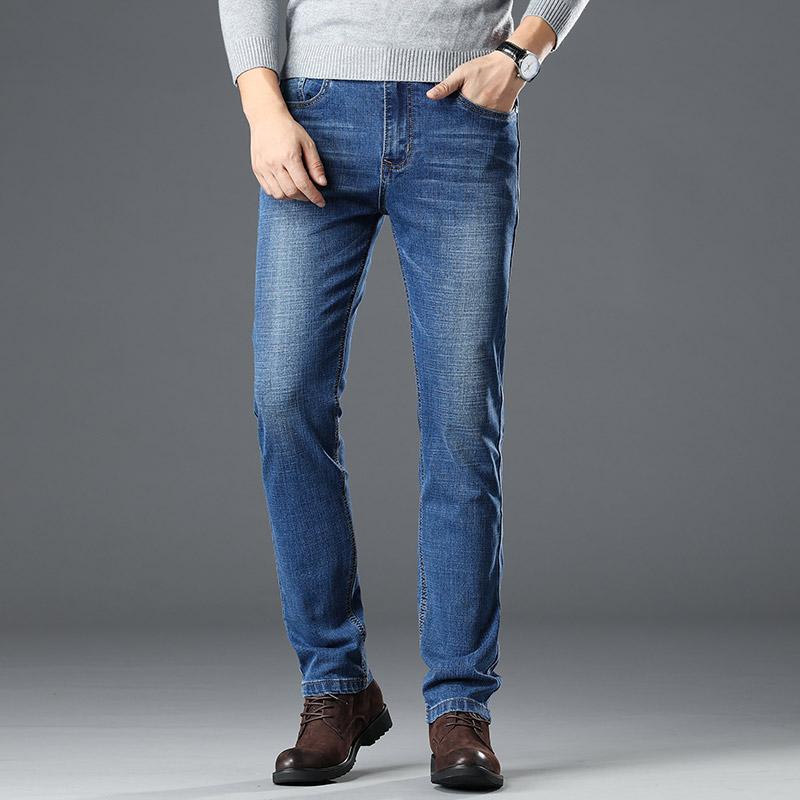 f034dc9fb06fa Acheter SULEE Marque Hiver Nouveaux Hommes Slim Jeans Affaires Casual  Élastique Jean Skinny Noir Bleu Denim Pantalon Homme Marque Pantalon 38 40  De $50.35 ...