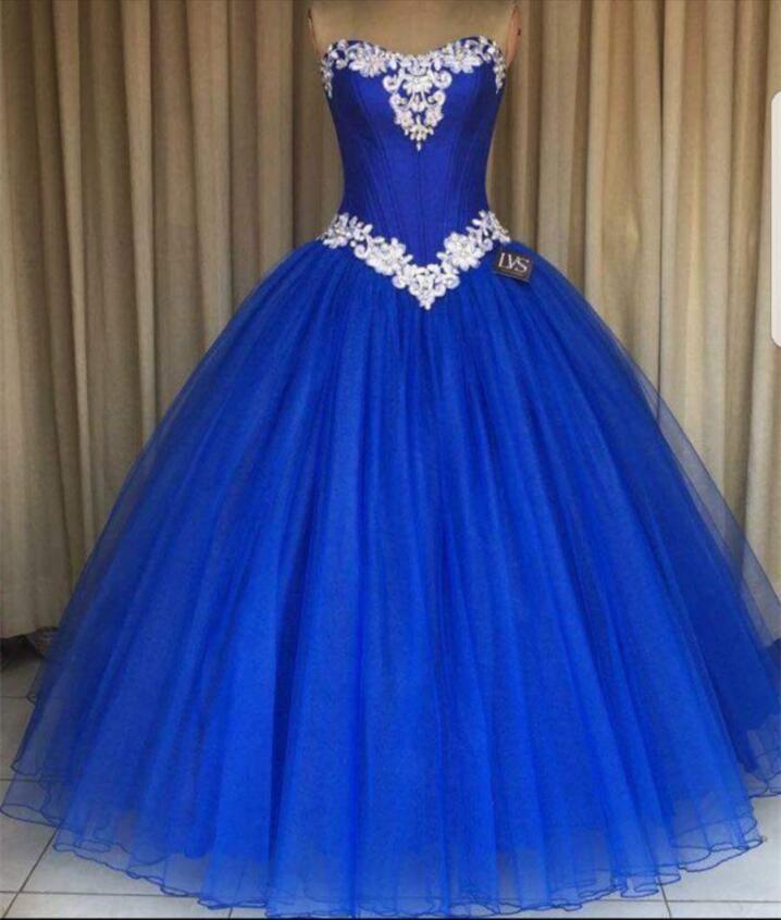 Imagen de vestido de 15 azul