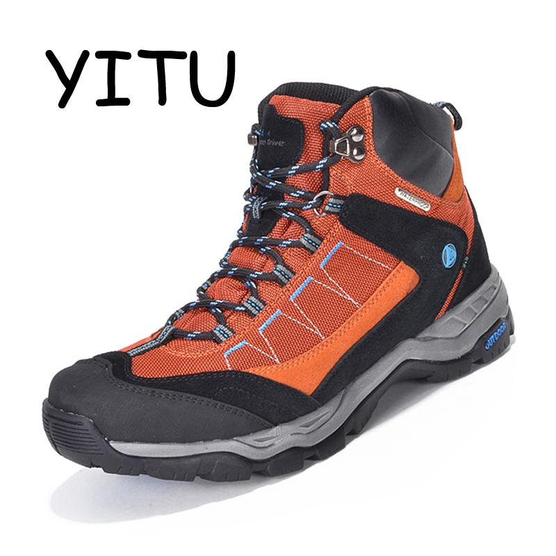 25503d07f58 YITU Outdoor Mens Hiking Boots Waterproof Breathable Trekking Hiking Shoes  Woman Mountain Climbing Hunting Boots Sport Sneakers