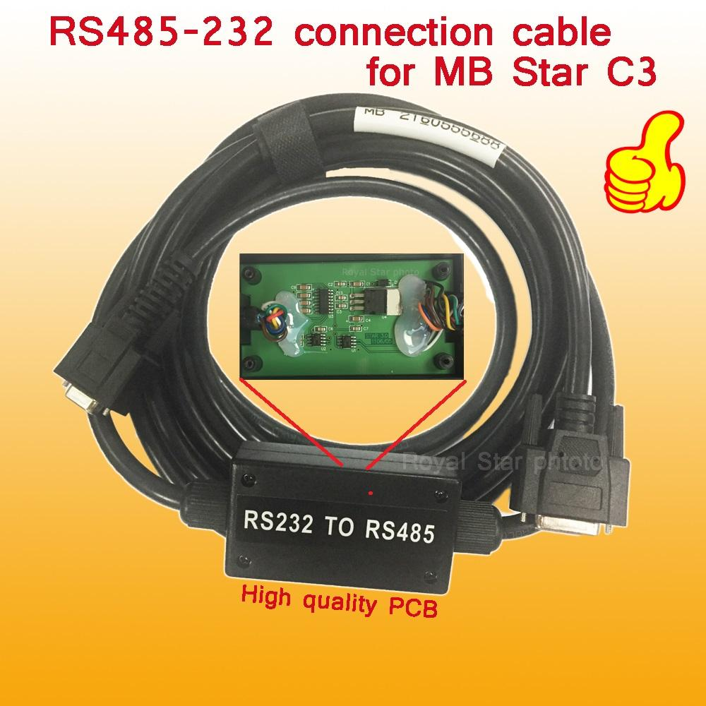 High Quality Rs232 To Rs 485 Cable For Mb Star C3 Multiplexer Cars Rs485 Wiring Diagram And Trucks Diagnostic Ready Work Ben Z Free Ship Kits