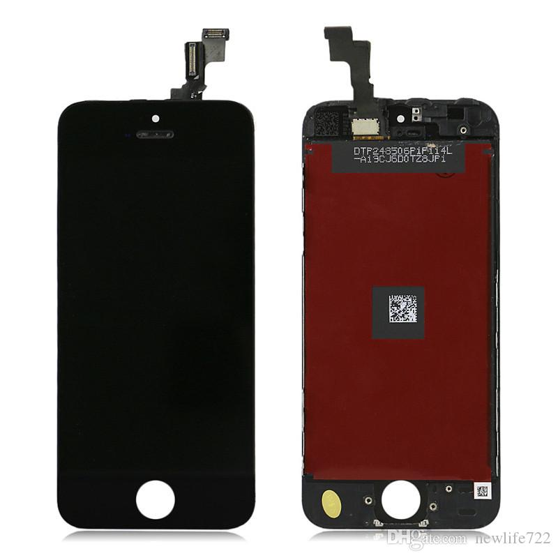 For Iphone 5S LCD Screen Replacement 4.0inch Touch Screen Digitizer + Frame Display Assembly Celphone Repair Parts No Dead Pixels On Sale
