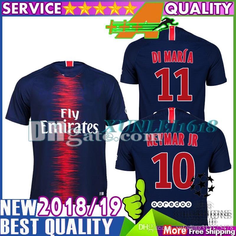 2019 Thai Top Quality Di Maria Paris Saint Germain Soccer Jersey 2018 2019  VERRATTI PASTORE Mbappe NEYMAR JR Jerseys 18 19 CAVANI Football Shirts From  ... 0e670a0c2
