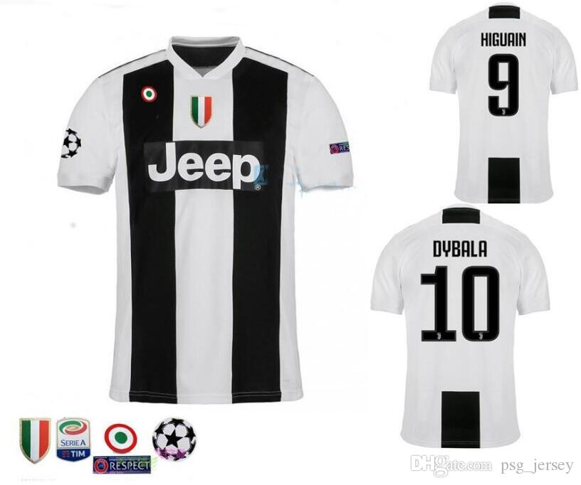 2019 Top Level 2019 Home Soccer Jersey 18 19 DYBALA Soccer Shirt Customized  MARCHISIO MANDZUKIC HIGUAIN Football Uniform Sales From Psg jersey 801e38a22