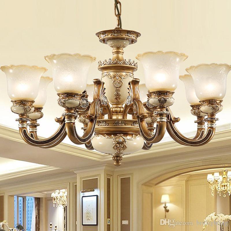Europäische Kronleuchter Moderne Wohnzimmer Leuchten Luxus led Kronleuchter  Esszimmer Hängelampen led Harz Glas pendelleuchten
