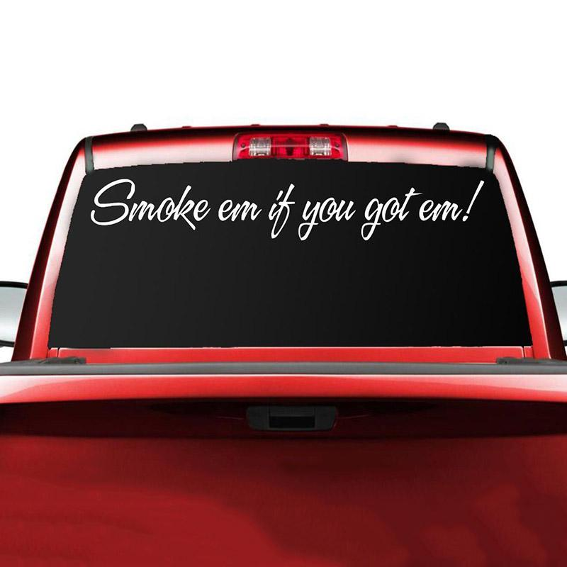 2018 smoke em vinyl decal truck sticker diesel stacks rolling coal lift mud funny from xymy797 8 55 dhgate com