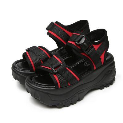 79ceea477f289 2018 Sandals Female Summer Han Edition Student Thick Bottom Sponge ...