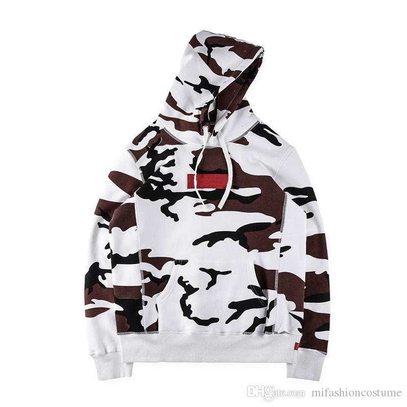 dc2cdb7df90 2019 Fashion Box Logo Desert Camo Hoodie Winter Fleece Thick Skateboard Hooded  Sweatshirt Men Women Street Hoody From Kanjianfen788