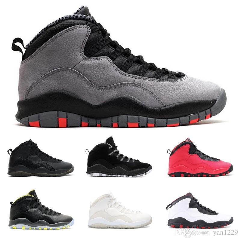 cb41ba0708f541 2019 Cement 10 Zapatos De Hombre Westbrook 10s I M Back White Black Cool  Grey Bobcats Chicago Steel Grey Men Basketball Shoes 10 Sneakers From  Yan1229
