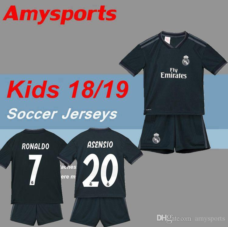 cd01e4c315d 2019 Kids Kit 2018 2019 Real Madrid Away Soccer Jersey 18 19 Youth Boy  Child RONALDO Soccer Shirt 2019 Modric KROOS ISCO ASENSIO BALE Football  From ...