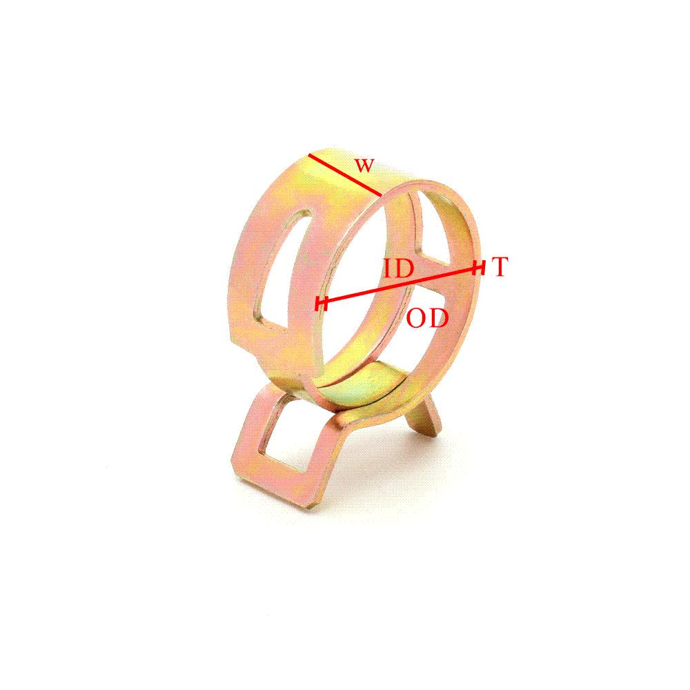 Hot sale 100Pcs/Set 6-22mm Spring Clip Fuel Line Hose Water Pipe Air Tube Clamps Fastener wholesale