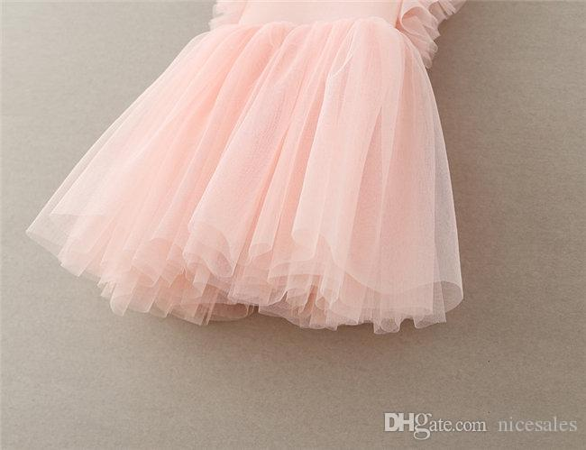 Gilrs Princess Wedding Kids Lace Back Side Deep V Floral Party Pageant Tulle Dress for 2-6 Years