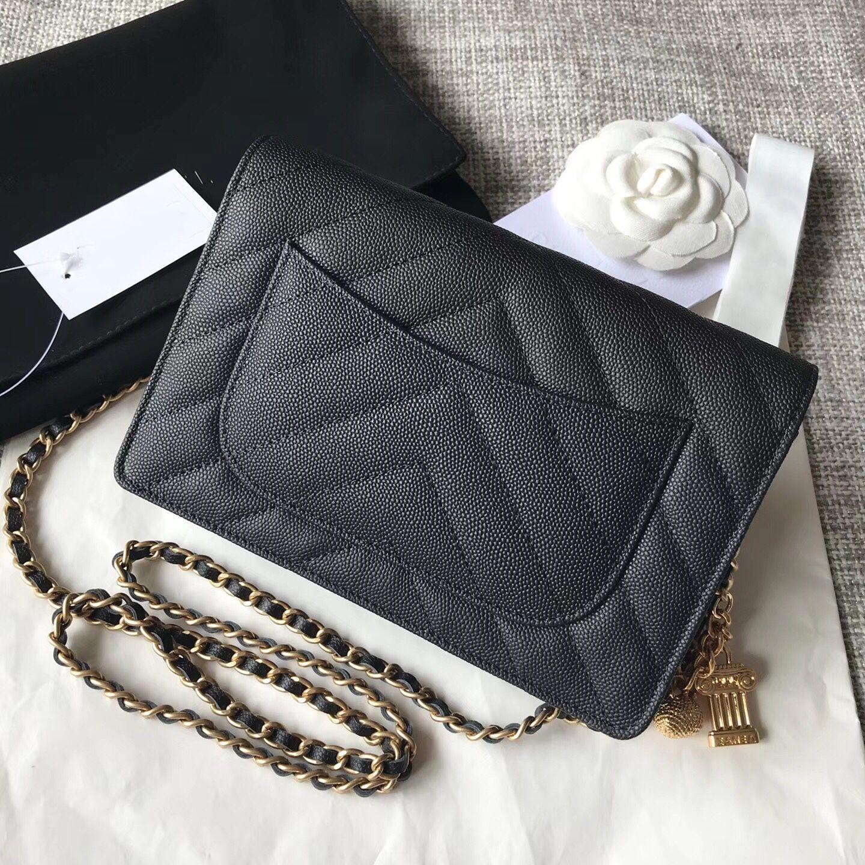 42368f325403 2018 7A Best Quality Classic Women Caviar Woc Clutch Crossbody Mini Bag  33814 Lady Fashion Owl Ornament Gold Chain Shoulder Bag 19cm Leather  Backpack Clutch ...