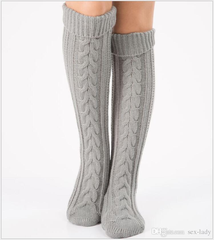 6035425a3cd Knee High Over Knee Socks Thigh High Stockings Sexy White Black Red Stockings  Long Socks Knit Leg Warmers Thick Boot Socks Christmas Socks Injinji Socks  ...