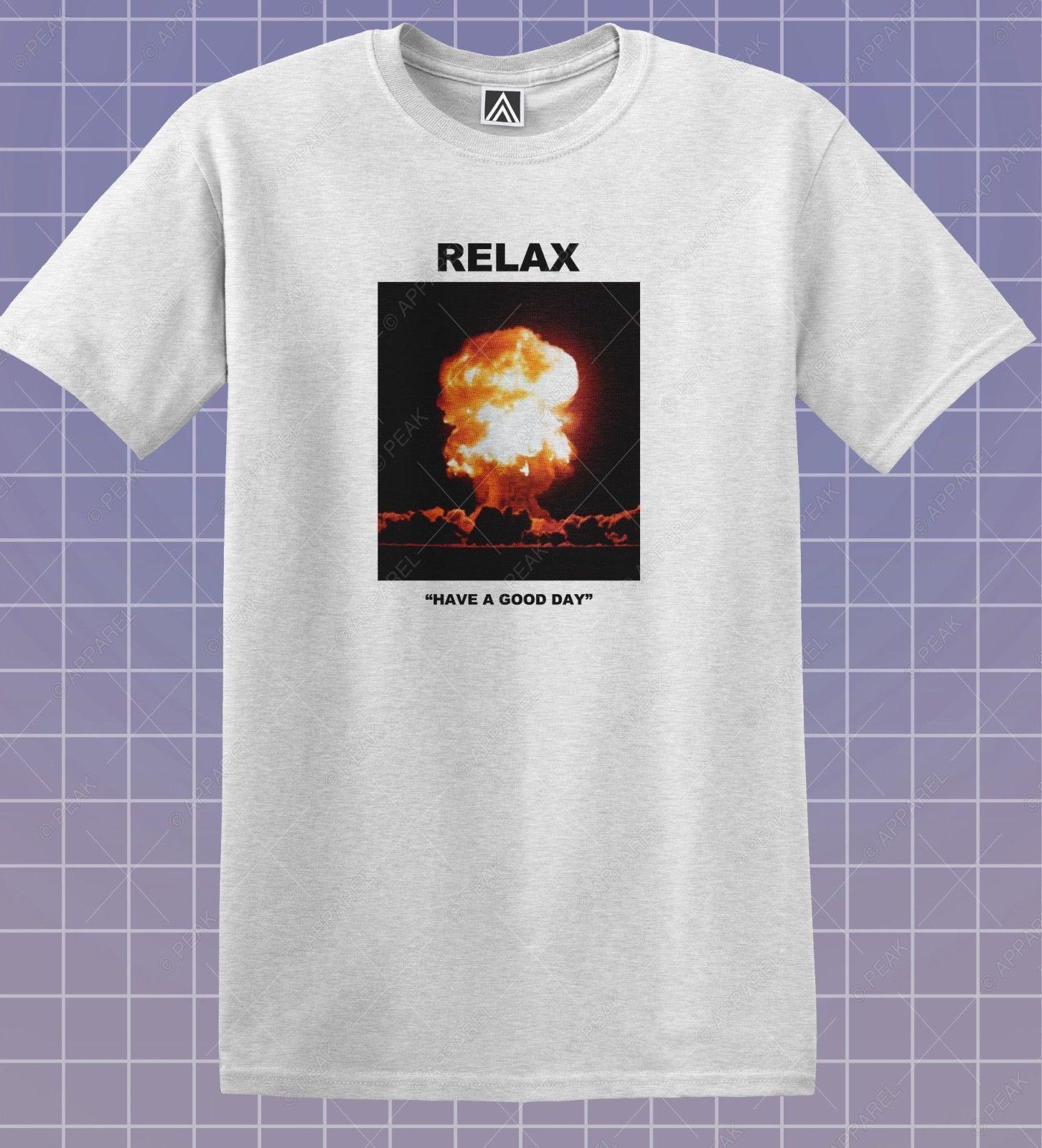 633771e6a Relax T Shirt Mushroom Cloud Hazard Tee Gosha Style Heron War Good Day Top  Cool Casual Pride T Shirt Men Unisex New Fashion Best Sites For T Shirts Tee  ...