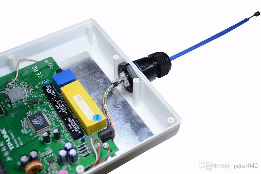 Conector de rede M25 RJ45 F / F singe cabeça à prova d 'água blindado soquete com tampa interna / out à prova d' água