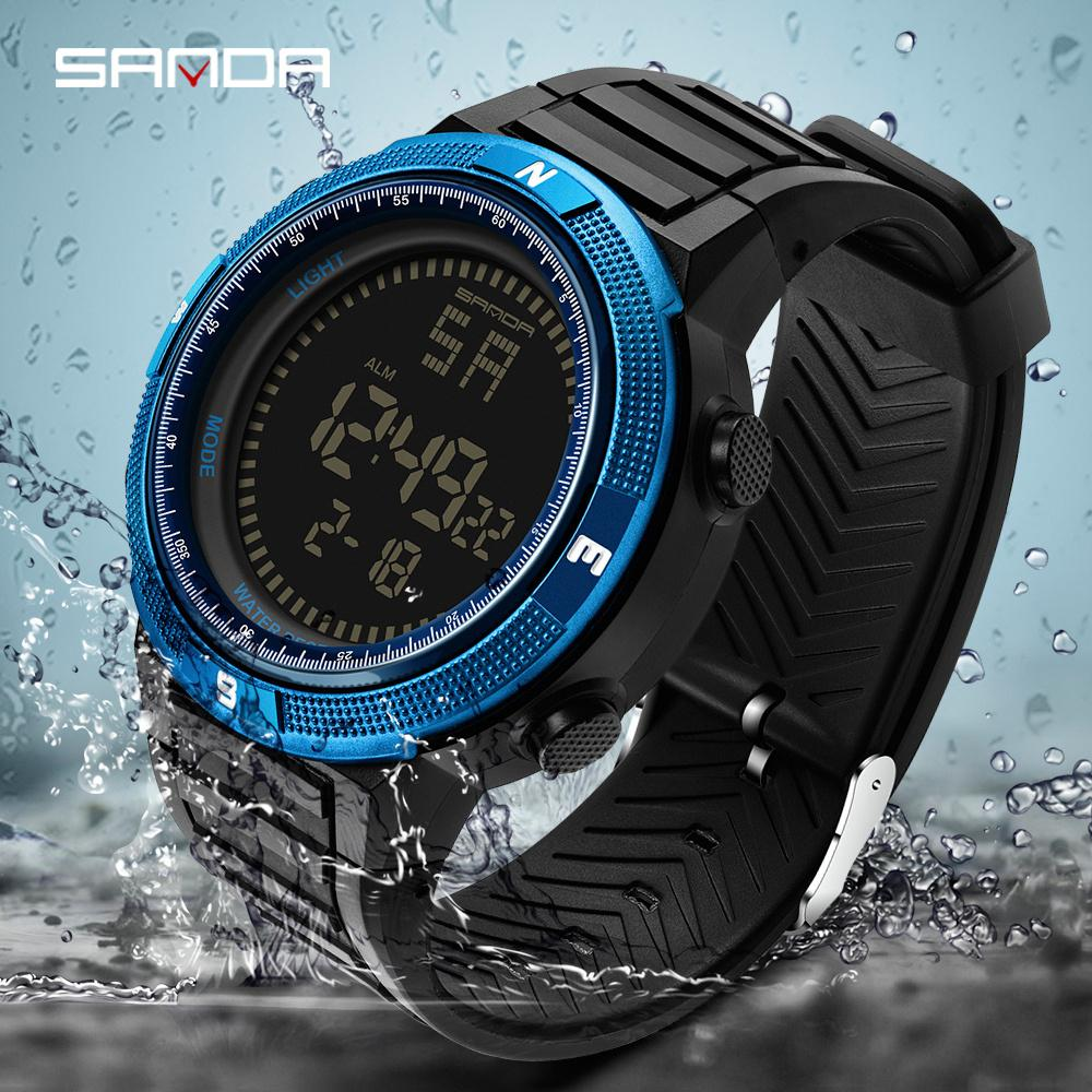 77c5d7ac08 SANDA Brand Sport Watch Men Digital Watch Outdoor Waterproof electronic  Wrist watches Mens watches Male Clock reloj hombre